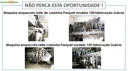 Maquina empacotadeira de leite de caixinha Parquet modelo 100 fabricação a venda