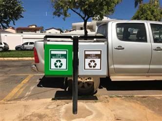 Cesto Coletador de Resíduos Leves Metálico Duplo